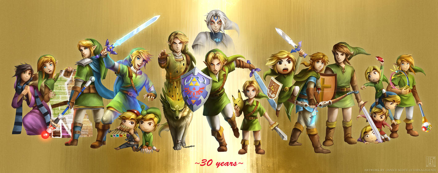 30 Years The Legend Of Zelda By EternaLegend