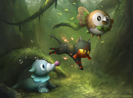 Sun and Moon starters