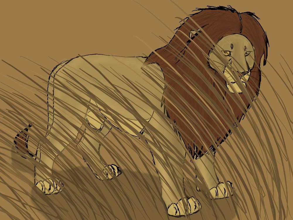Lion In The Savanna by Vitanifan55