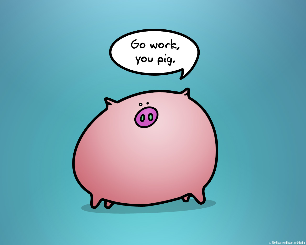 Work like a pig by KDEWolf