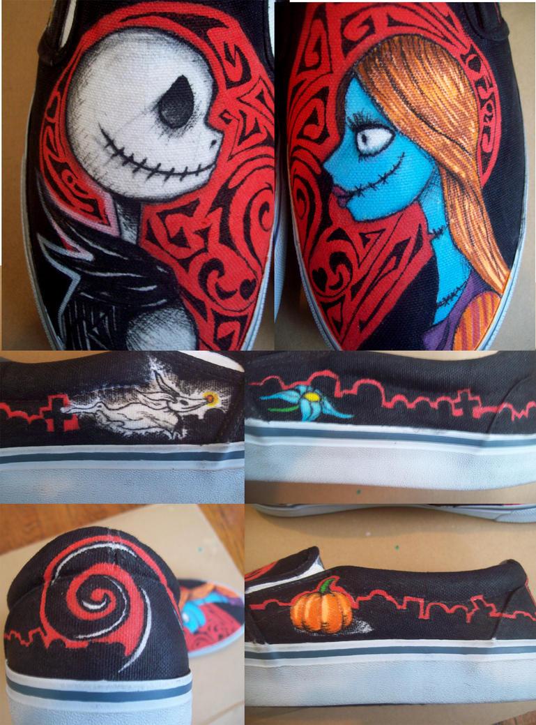 Jack and Sally Vans by Tantrum-Smilez