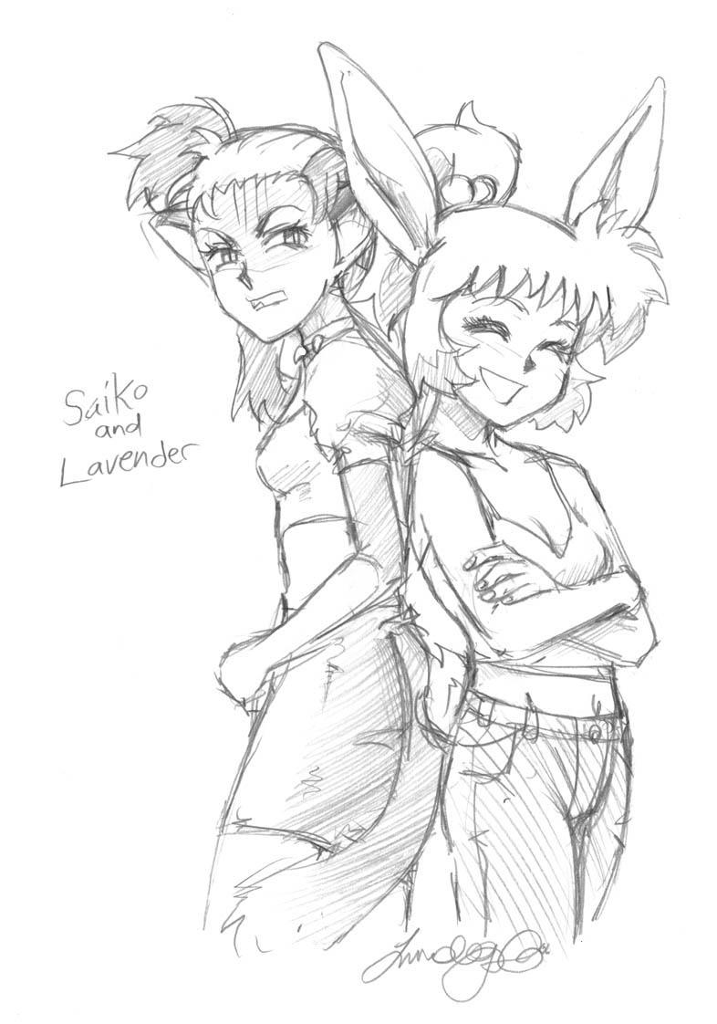 Saiko and Lavender by LCibos