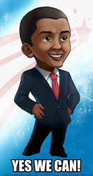 Chibi President Obama by LCibos