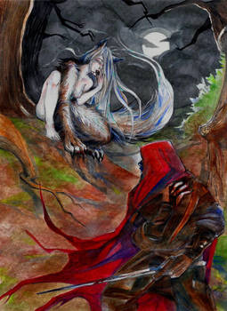 Red Hooded Ranger And The She Wolf  By Graveyard K