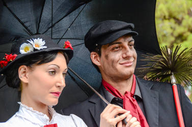 Mary Poppins and Bert by Bewitchedrune
