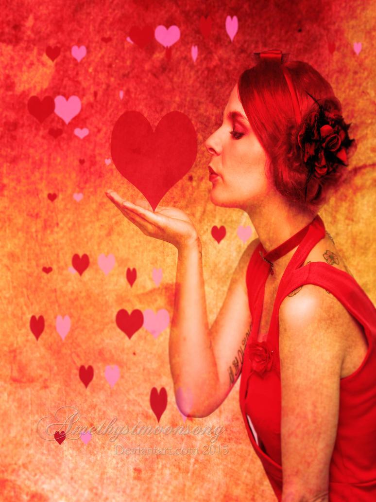Blowing Kisses by amethystmoonsong
