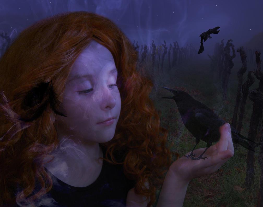 Night Wing Familiar by amethystmoonsong
