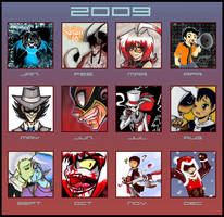 + Art Summary 2009+ by Yore-Donatsu