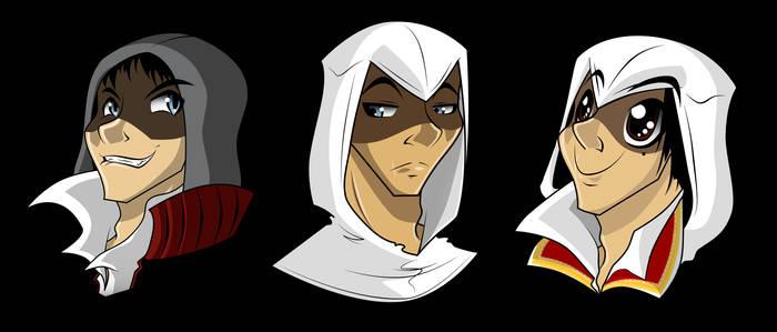 +Alex, Altair  and Ezio +