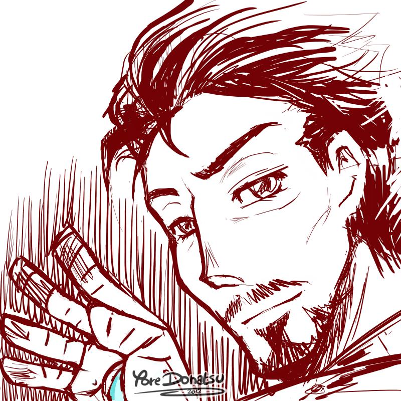+ Sketch: Iron Man + by Yore-Donatsu