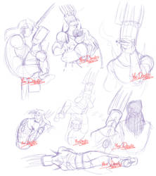 Brutal Legend - Sketches: Contact by Yore-Donatsu