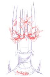 Brutal Legend - Sketch: Flower Metal Crown by Yore-Donatsu