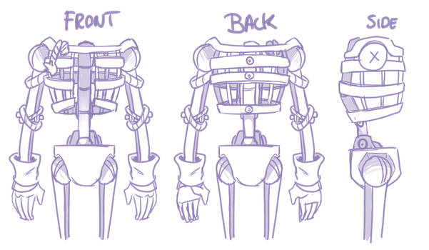 Pumpkin Jack - Sketches: The Puppet Body