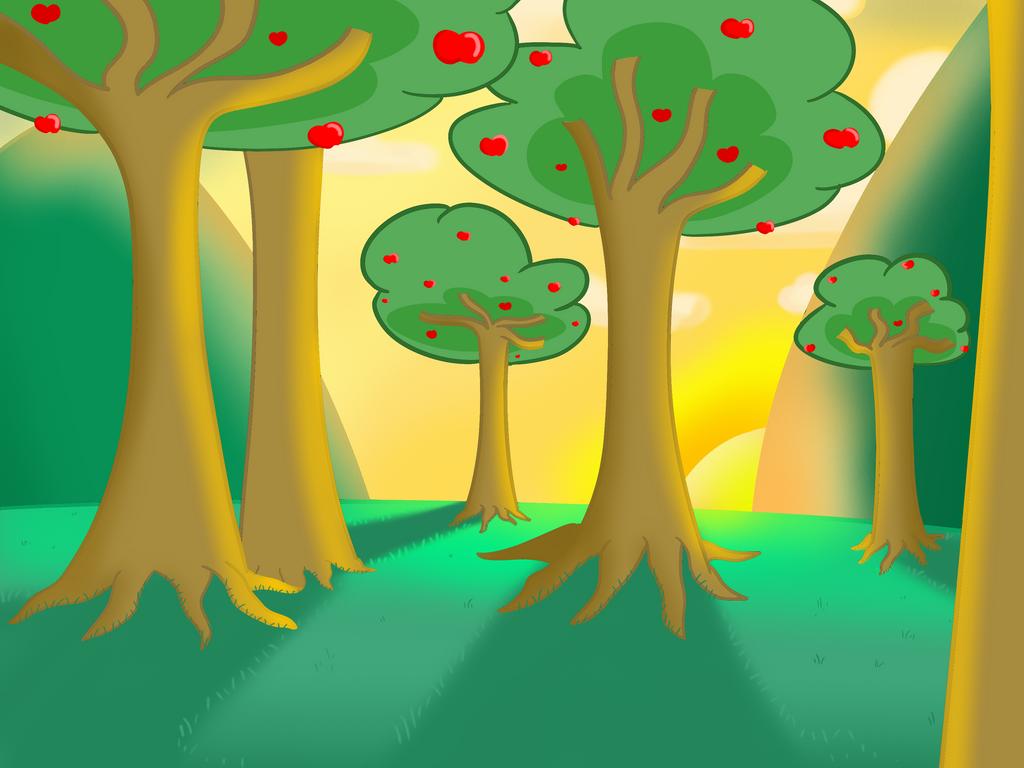 Apple orchard background by ET9977 on DeviantArt