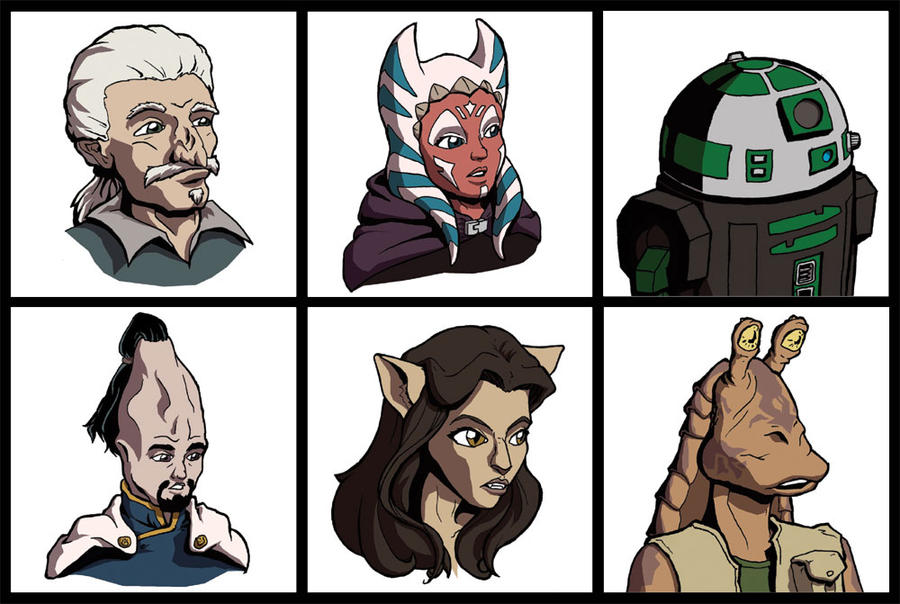 Star Wars RPG Profile Pics by EmeraldBeacon