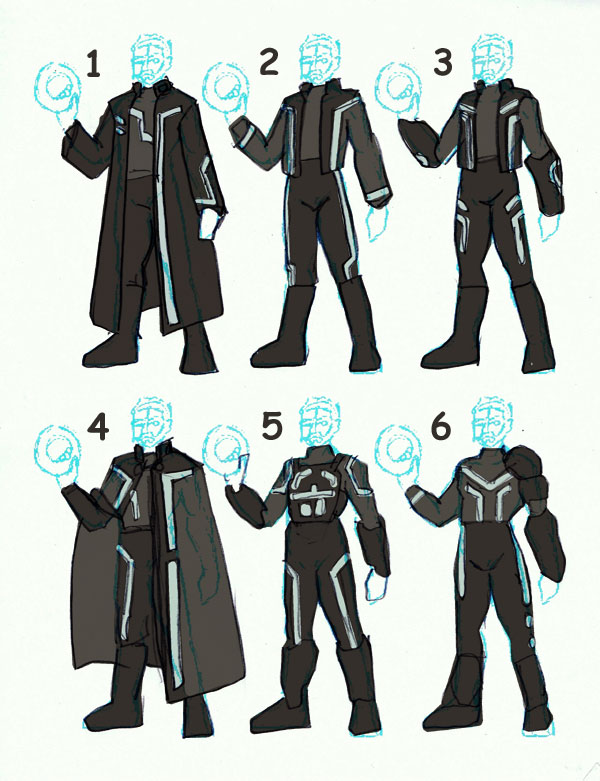 Tron Costume Concepts by EmeraldBeacon