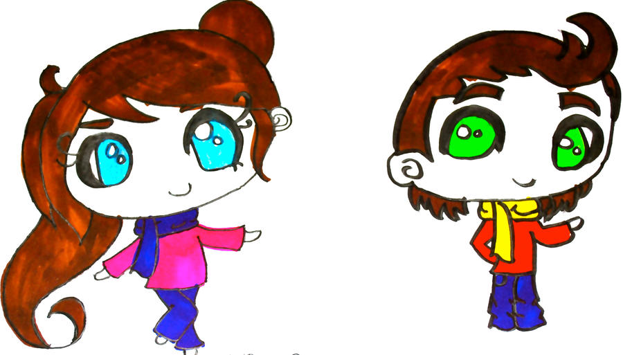 Chibi girl and Boy by Chibi-Alex on DeviantArt