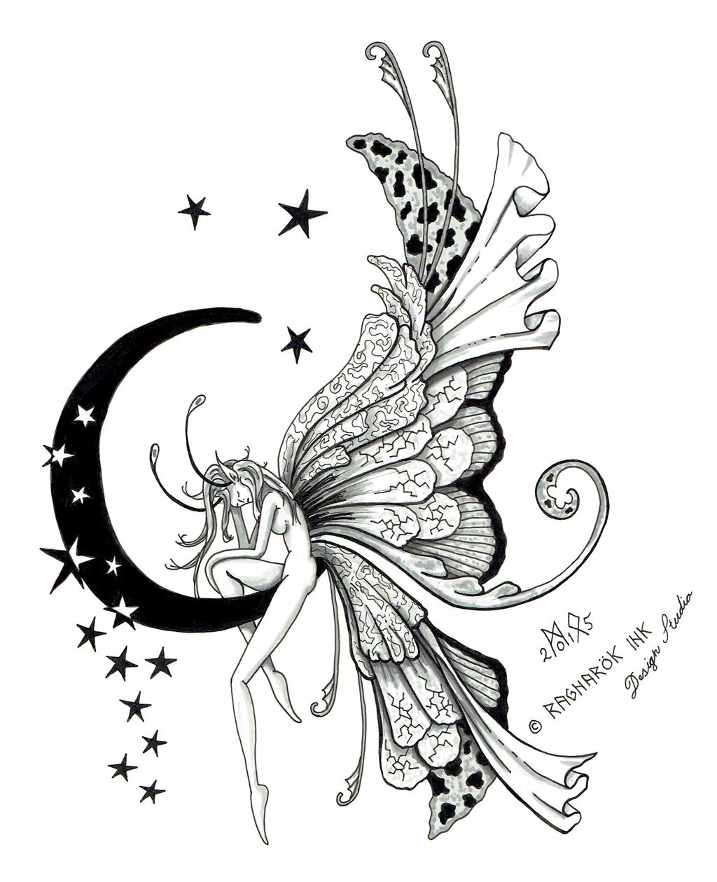 ab2d99e91 Fairy Tattoo Design by Raknarok-Ink on DeviantArt