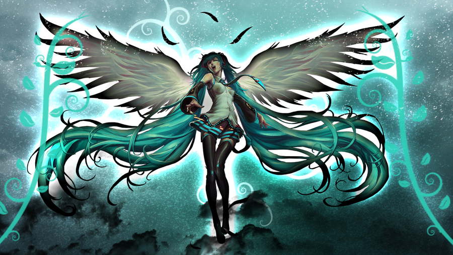 hatsune miku angel wallpapers - photo #1