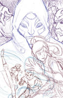 Korra Poster, WIP Sketch by DelusionInABox