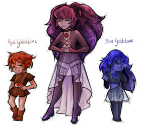 Red and Blue Goldstone by BrittanyTheAwesome