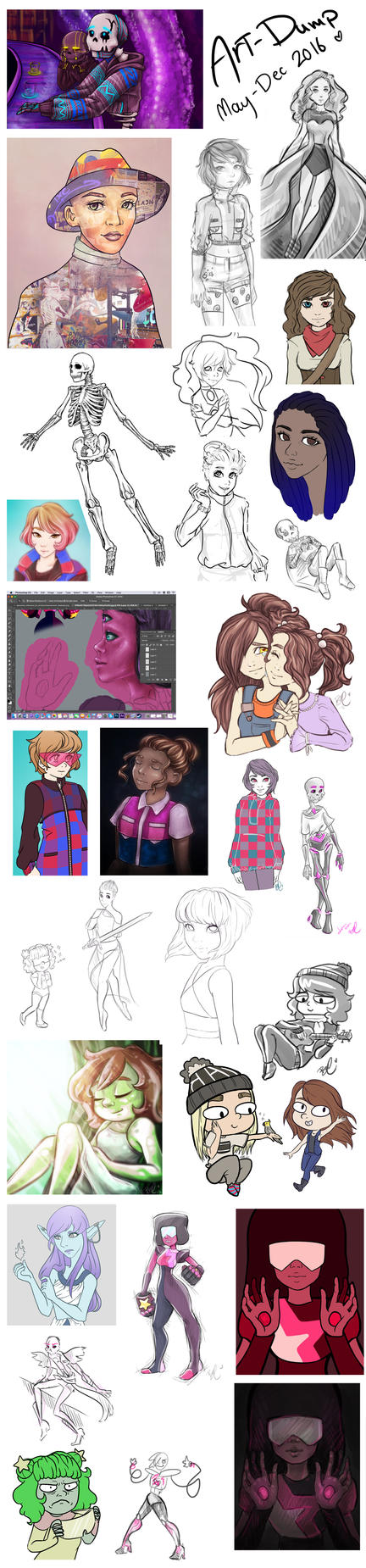 Art Dump June-December 2016 by BrittanyTheAwesome