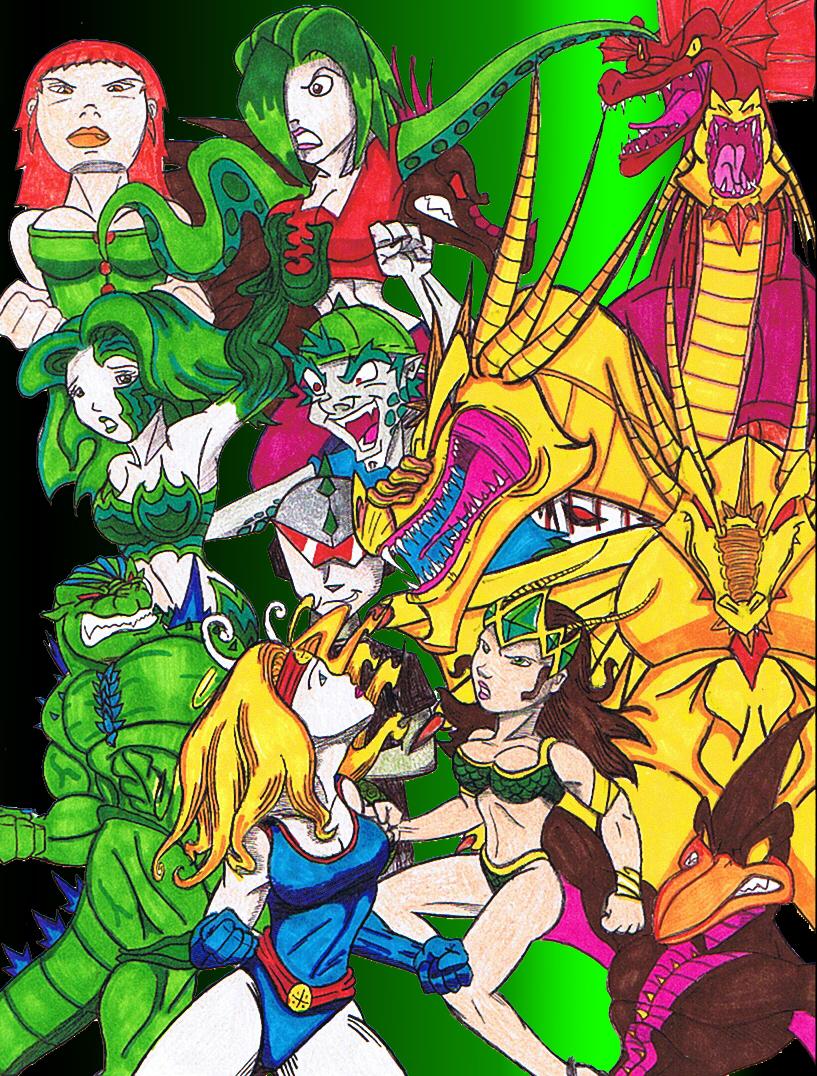 Go Go Godzilla all Characters by KaiJuAlex