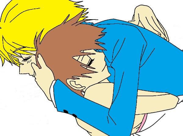 Tamaki and Haruhi hug by TheAnimefreak69Haruhi And Tamaki Hug