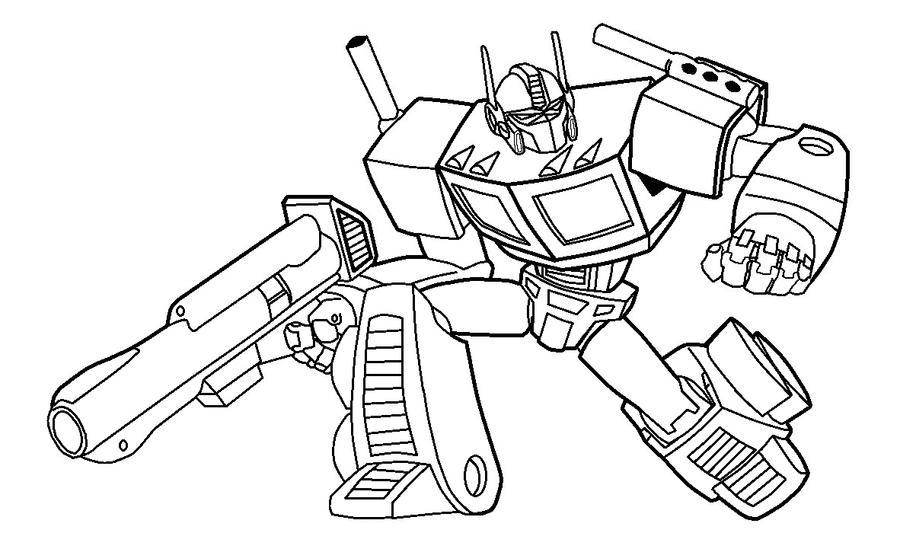 Optimus prime pictures to color