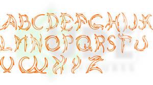 Tribal typeface