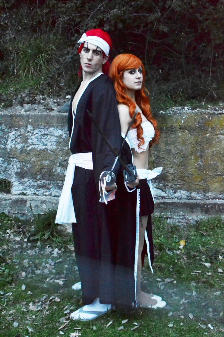 Abarai Renji and Ichigo Kurosaki (female version) by Emy182