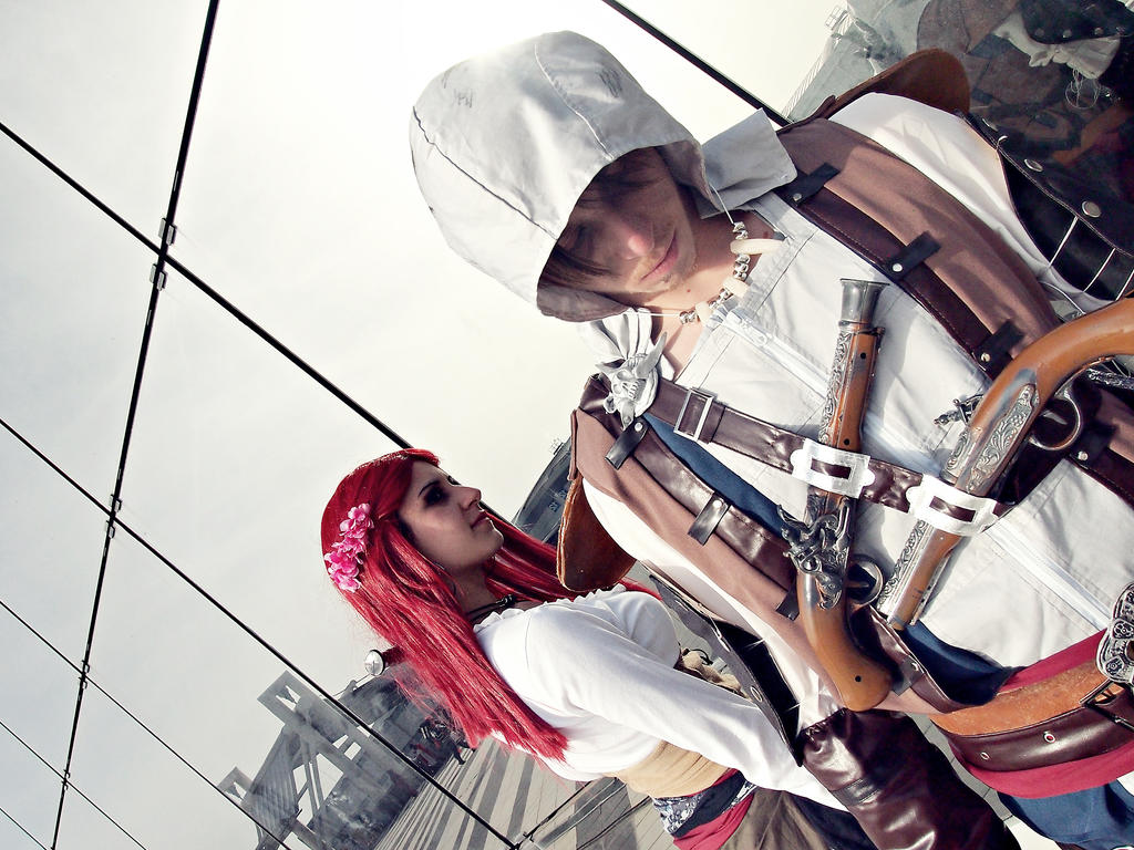 Edward Kenway and Anne Bonny [AC black flag] by Emy182