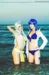 Juvia and Mirajane bikini version