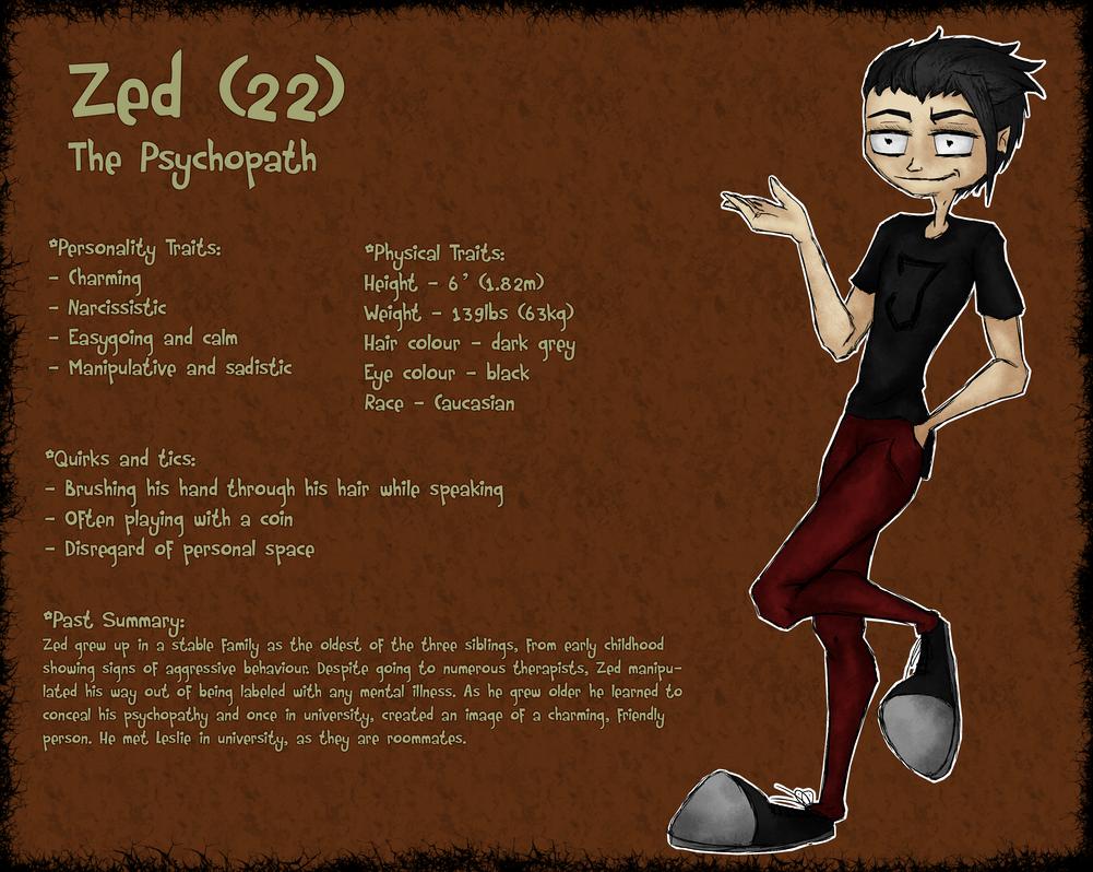 Zed (basic character sheet) by BunnyStygian