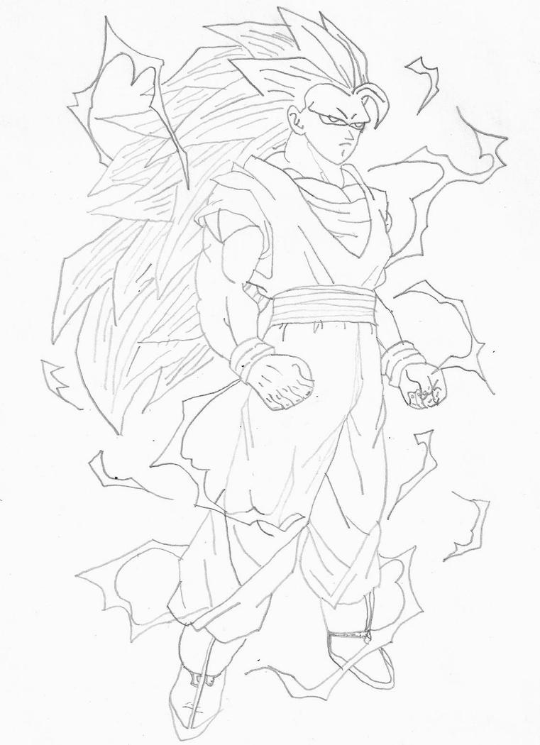 Goku super saiyan 3 by gokuwyatt on deviantart for Goku super saiyan 5 coloring pages