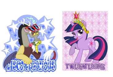 Twilightlicious and Discordlicious by ScruffyToto