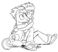 I'm a little scared. Hold me? by ScruffyToto
