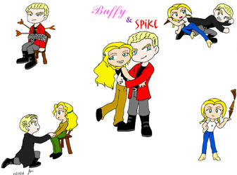 Buffy and Spike 'Collage' by ScruffyToto