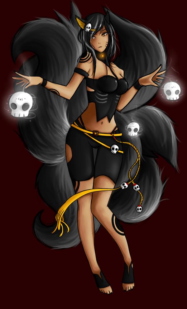 Deathcap Ahri remake League of legends by NerdyNation