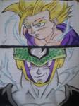 DBZ : gohan vs cell by elianacaro