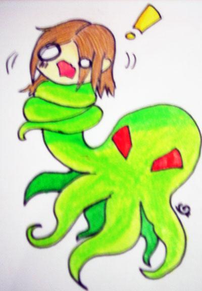 Evil octopus cartoon - photo#3