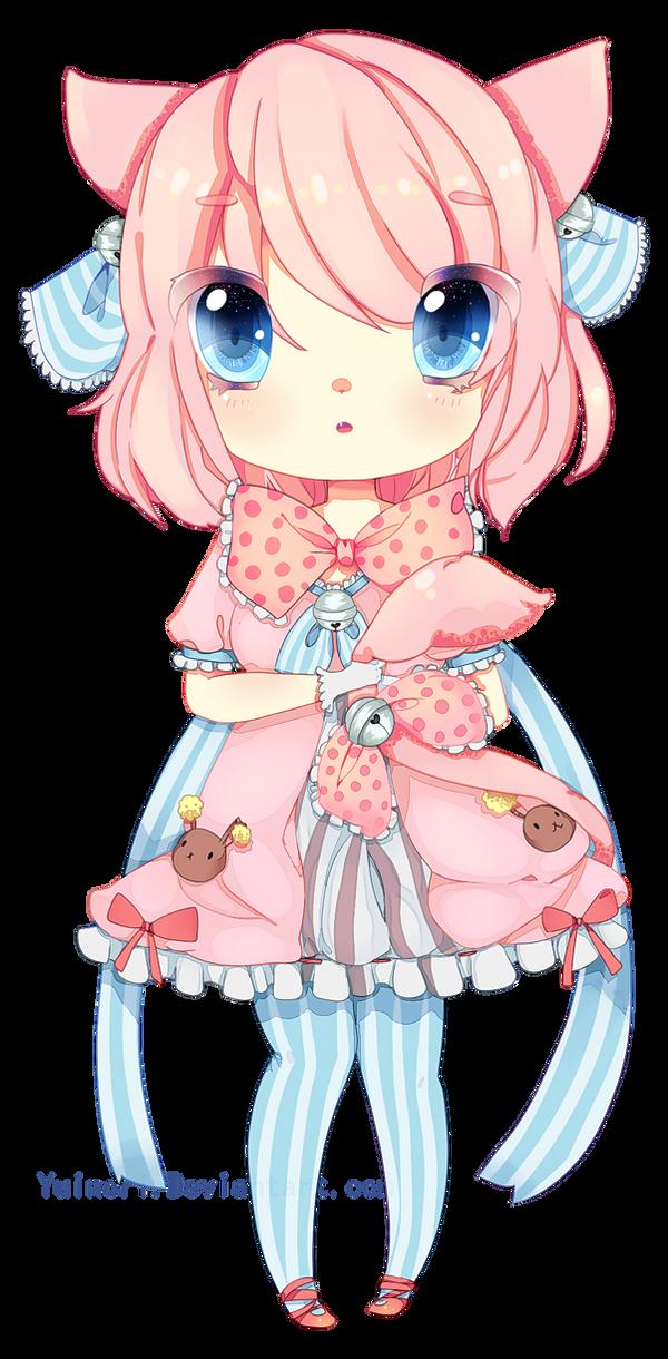 NiccoMIIX : Commission : neko chibi girl by YUIR0