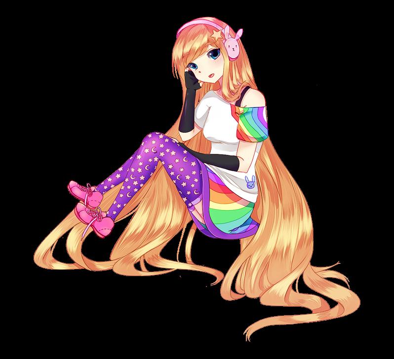 RainbowMoonBunny Commission P2 by YUIR0