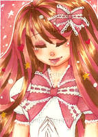ACEO :: Magical Girl Pinku by LittleMacarons