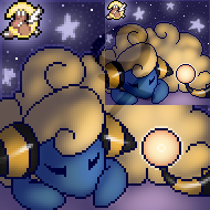 Furcadia Portrait || Mareep by LittleMacarons