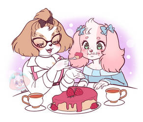 Tea and gossip by LittleMacarons