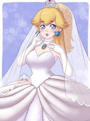 Wedding Peach by LittleMacarons
