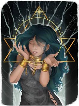 Lina - Dragon Age Companion Card -9 Wands