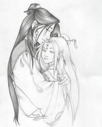 Kayori and Enki by endejester