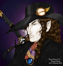 Vampire Hunter D Colored by endejester